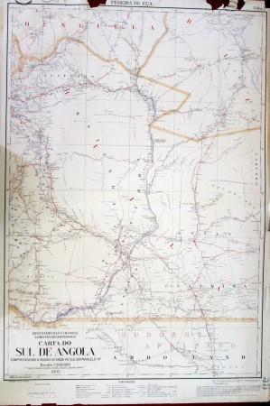 Mapa 6: Carta do Sul de Angola. Ministério das colônias. Comissão de Cartografia. Escala: 1:500.000, 1932. Disponível no Centro de Documentação e Informação, do Instituto de Investigação Científica Tropical, Lisboa.