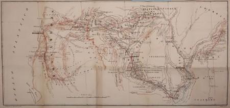 Mapa3: Carta do Sul de Angola. In: CAPELO, Hermenegildo; IVENS, Roberto. De Angola à Contracosta: descrição de uma viagem pelo continente africano. Lisboa: Imprensa Nacional, 1886.